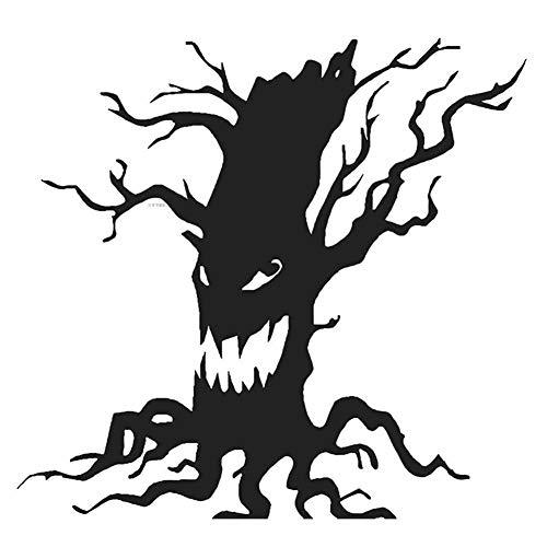 Spaufu Halloween Wand Kunst Aufkleber Abnehmbare Wandtattoos mit Totenkopf für Kinder Kinderzimmer Fenster Wohnzimmer Schlafzimmer Maskerade Kostüm Party 3D DIY Wanddekoration Spielzeug Schwarz ()