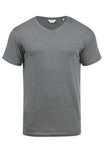 !Solid Bedo Herren T-Shirt Kurzarm Shirt Mit V-Ausschnitt Aus 100% Baumwolle, Größe:M, Farbe:Grey Melange (8236) (Halloween-outfits Der Männer)