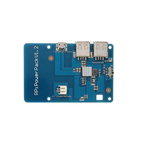 Preisvergleich Produktbild LoveOlvidoD Lithium-Batterie-Erweiterungskarte RPI-Powerpack für Raspberry Pi 3 Modell B Pi 2B Umweltfreundliche Materialien