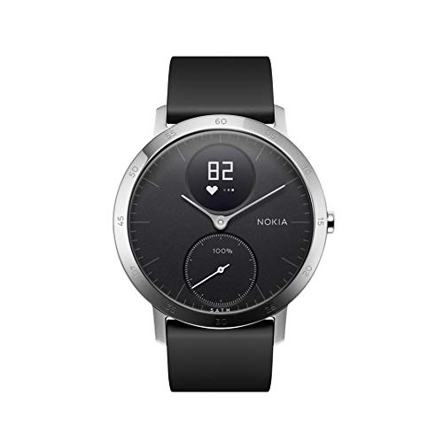Nokia Steel HR Reloj, Unisex Adulto, Negro, 40mm