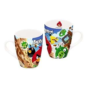 Knallbunte Angry Birds Gamer Tasse gewölbt, Keramik in Geschenkverpackung