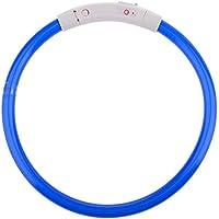 winterswet Cuello de Perro de Seguridad LED Cuttable Pet LED Luminous Collar USB Recargable Optical Style Pet Collar