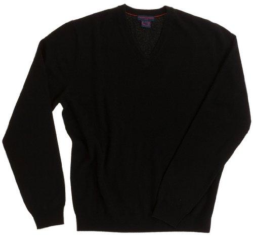 Pullover Herren (V-Ausschnitt) - 100% Kaschmir - von Citizen Cashmere Schwarz