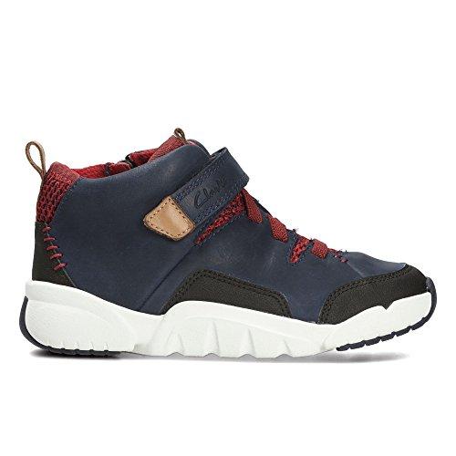 Clarks Tri Mimo Inf Boys Casual Boots 12 F Navy