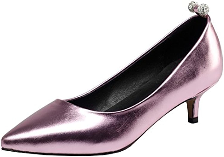 dde5fd6c1f8 Artfaerie Women s Kitten Heel Wedding Wedding Wedding Court Shoes Slip on  Elegant Pointed Toe Summer Bride Pumps B07CBTD974 Parent 9826b0