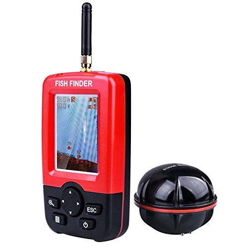 Fishing Finder Portable Wireless Sonar Sensor Fish Attractor and Fish Gear with Colorful Display, Model: MZX04