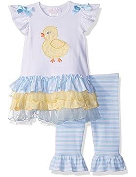 Traum Baby Mädchen Sommer Set - Rüschen-Tunika + 3/4 Legging Gr. 74,80,86