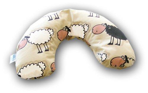 Preisvergleich Produktbild CorpoMED Kindernackenkissen 97 x 19 cm, Set Kissen und Bezug, Dessin: Schaf Hugo