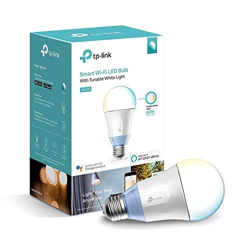 TP-Link LB120 Smart LED Wi-Fi E27 Glühbirne, kompatibel zu Amazon Alexa und Google Home, einstellbare Farbtemperatur, kein Hub notwendig, 10W