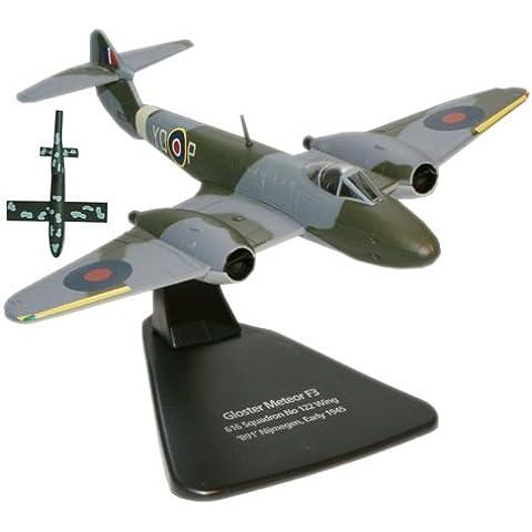 Oxford Diecast - Modellino aereo Gloster Meteor Plus