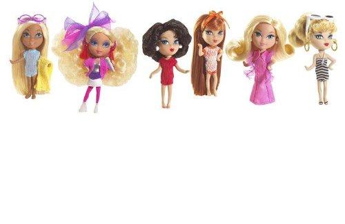 Barbie - My Favorites  - mini B. - Gift Set #1 - 6-Pack - incl. 1959 The Original Teen Fashion Model Barbie & 1962 Bubble Cut Barbie & 1967 Twist 'n Turn Barbie & 1971 Malibu Barbie & 1977 Superstar Barbie & 1986 Barbie and the Rockers - Mini Barbies ca. 6cm mit Stand-Up - OVP