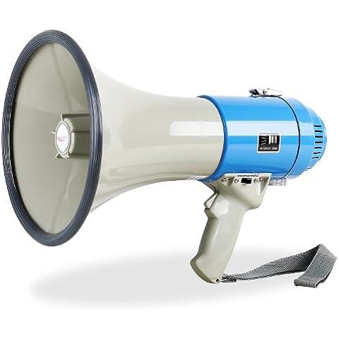 Megafono con sirena 60W (Alcance hasta 1000m, varias funciones, bajo consumo y ligero)