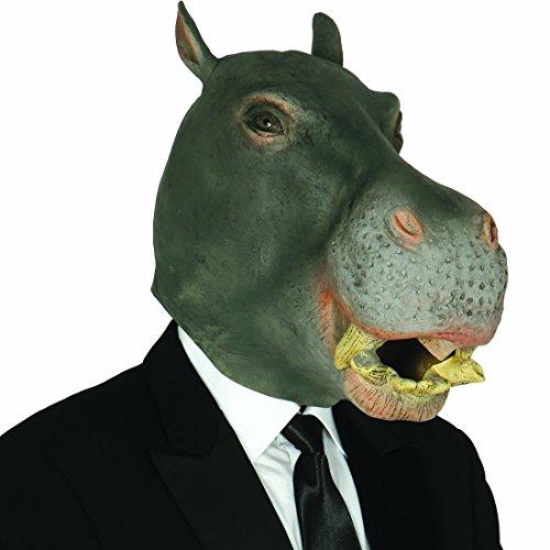 Tiermaske Nilpferd Nilpferdmaske Flusspferd Vollmaske Hippo Faschingsmaske lustige Tiermaske Hippopotamus (Latex Maske Nilpferd)