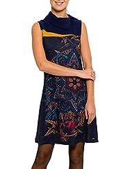 SMASH Filomena Vestido Pichi Con Cuello-A1661335, Robe de Chambre Femme
