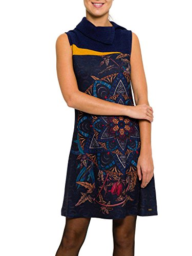 Smash Filomena Vestido Pichi con Cuello-A1661335, Copricostume Maternità Donna, Azul marino, Large