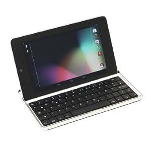 """GeX® kabellose Bluetooth QWERTZ-Tastatur für Google Nexus 7 I (nur für die erste Generation von Google Nexus!!) mit deutschem Tastaturlayout mit üblicher Tastenkombination für Umlaute, Ä, Ö, Ü, ß, @ bei """"Q"""" und mit deutscher Bedienungsanleitung"""