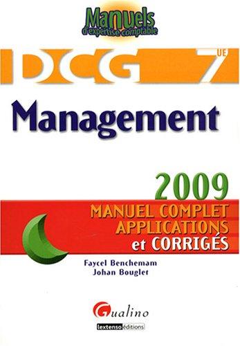 Management DCG7 : Manuel complet, applications et corrigés