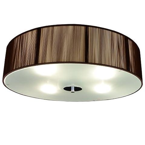 s`luce (Twine) COFFEE Deckenleuchte 4-flammig, Ø50cm/H12cm, braun CORS/1C500/CO|Ø50/H12