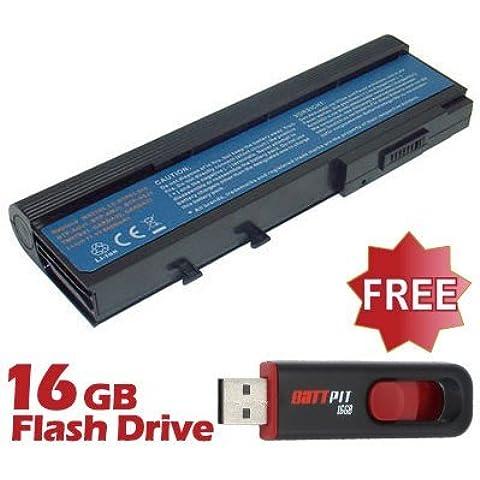 Battpit Batteria per notebook Acer TravelMate 2423WXCi (6600mah / 73wh) Corredato di Memoria USB portatile 16GB gratuito