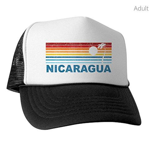 CafePress Retro Nicaragua Palm Tree - Trucker Hat, Classic Baseball Hat, Unique Trucker Cap