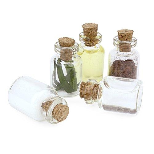 1,5 Ml Mini (Grenhaven 20er Set Mini-Fläschchen 1.5 ml aus Echtglas kleine Glasfläschchen mit Korkverschluss Glasflaschen für Dekoration, Aufbewahrung von klein Teilen oder zum basteln)