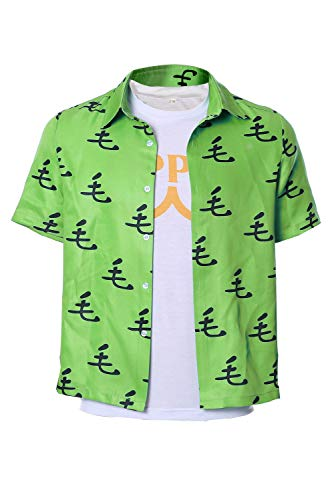 Kostüm Cosplay Saitama - MingoTor One Punch Man Saitama Oppai Lässiges T-Shirt Tee Cosplay Kostüm Grün Herren L