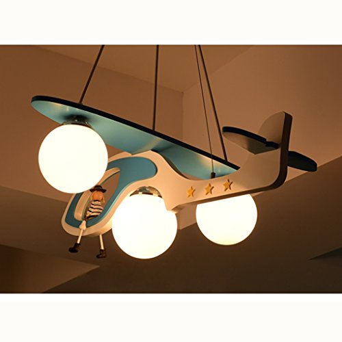 Guo Kinderzimmer-Lichter-Jungen-Schlafzimmer-Flugzeug-Lichter-Kronleuchter-Pers5onlichkeit-kreative Karikatur-Beleuchtung-Legierungs-Lampen-E27 Lampen-Hafen - 3