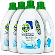 Dettol Antibacterial Laundry Cleanser Liquid Additive, Fresh Cotton, Multipack of 4 x 1.5 Litre