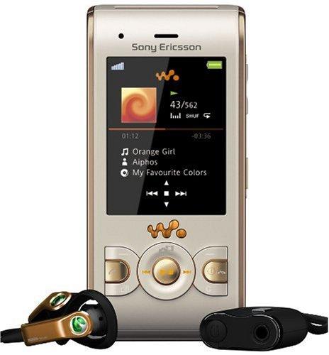 Sony Ericsson W595 Handy (Bluetooth, 3.2MP, 2GB Memory Stick, Walkman, UKW-Radio) Sandy Gold (Sony Walkman Ukw-radio)