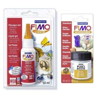 FIMO Soft Liquid 50 ml + Glanzlack 10 ml - Staedtler -