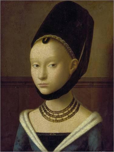 Posterlounge Forex-Platte 100 x 130 cm: Bildnis Einer Jungen Frau Um 1470 von Petrus Christus/ARTOTHEK