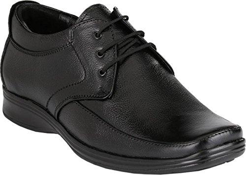 Leatherkraft Men's Black Genuine Leather Formal Shoes -12 (LKU1402BK12)