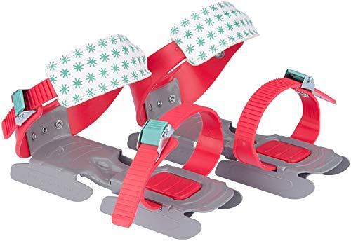 Nijdam® Junior Kinderschlitschuhe verstellbare Gleitschuhe Größe 24 - 35 Koralle Grau Mintgrü