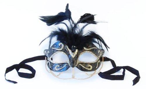 Tamire costume Mask with Gold Chain: nero/oro