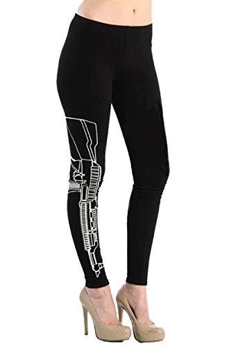 Larella Fitness Leggings Leggins WORK OUT Sweat Pants Workout STATEMENT Blogger NEU NEU (M/L, GUN)