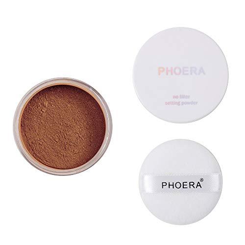 Longra Maquillage en poudre Translucide Visage Poudre Lisse Fondation Maquillage Poudre de fixation adaptée au flash pour Peaux Claires Matte Contrôle de l'huile Maquillage en poudre (D)