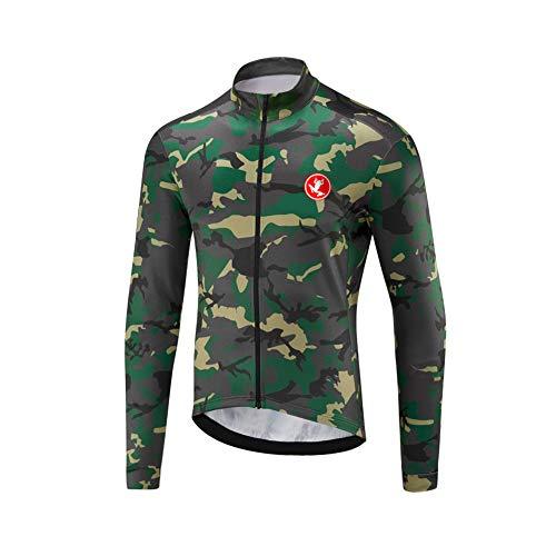 Uglyfrog Herren Jacke/Trikots Winddichte Wasserdichte Lauf- Fahrradjacke MTB Mountainbike Jacket Visible Reflektierend, Fleece Warm Jacket für Winter Voller Reißverschluss