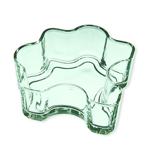 Schale aus Glas grün 30cl–Lot de 2–Puzzle–Bruno Evrard