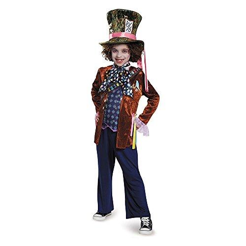 Kostüm Alice Glass Looking The Through - Disguise Mad Hatter Deluxe Alice Through The Looking Glass Movie Disney Costume, Medium/7-8 by Disguise