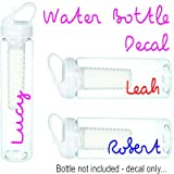 PCSL Sports/Water Bottle Name Sticker - Love Island Style Decal to Create your own bottle just like the TV Show (Water Bottle Sticker)