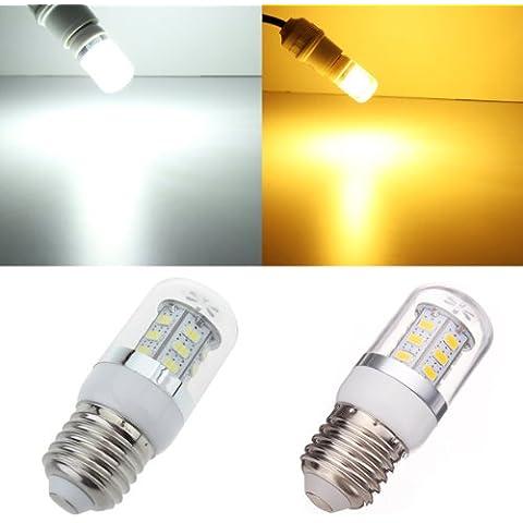 Bulbo del maíz LED E27 4.5W 24 SMD 5630 Blanco / luz blanca cálida 85-265V.