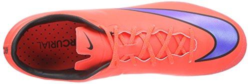Nike Mercurial Veloce II AG Herren Fußballschuhe Mehrfarbig (Bright Crimson/Prsn Violet-Black)