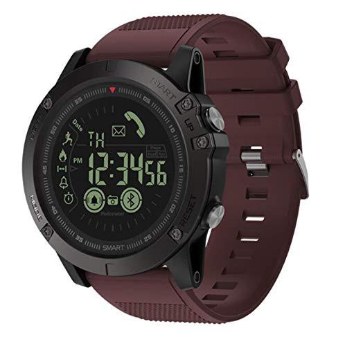 Love Life Bluetooth Smart Watch-Armband 1,2-Zoll-Outdoor-Fitness-Tracker-Uhr ip67 wasserdicht, Lange Lebensdauer der Batterie, Edelstahl,Red