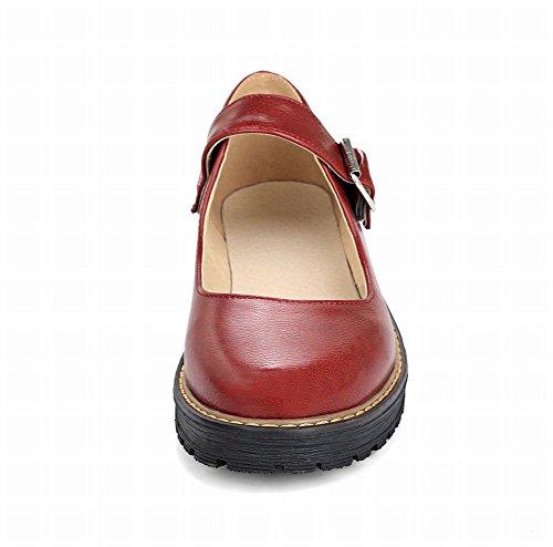 Mee Shoes Damen Niedrig Schnalle runde Pumps