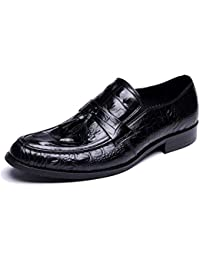 Zapatos De Hombre Versión Europea Borlas Negocio Patrón De Cocodrilo Casual Cómodo