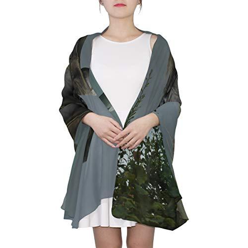 SHAOKAO Eine beängstigende Vogelscheuche Einzigartige Mode Schal für Frauen Leichte Mode Herbst Winter Print Schals Schal Wraps Geschenke für den frühen Frühling (Beängstigend Braut Halloween-kostüme)