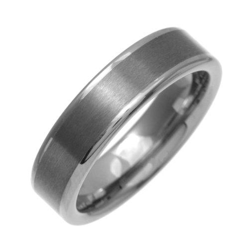 Theia Ring Nickel frei Tungsten Flach Court Form Matte Center 6mm - Gr. 63 (20.1) TH3558 Preisvergleich