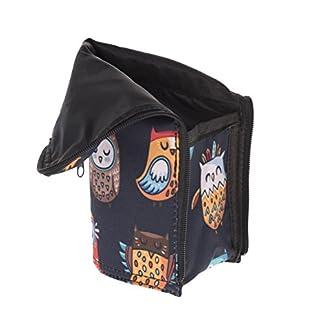 Caja de lápiz multifuncional rígida con cierre de cremallera Ethnic Owl [047]