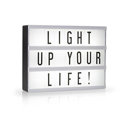 Smartwares LED Lightbox A5 - Lichtbox/Retro Kino-Leuchtkasten mit 85 verschiedenen schwarzen Zeichen, IOL-002-BW
