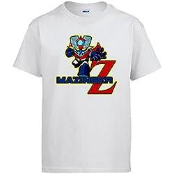 Camiseta Mazinger Z Robot - Blanco (Varios Colores)